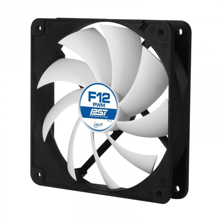 """FAN FOR CASE ARCTIC. """"F12 PWM PST"""" 120x120x25 mm, w/ PWM & cablu PST, low noise FD bearing (AFACO-120P0-GBA01) 0"""