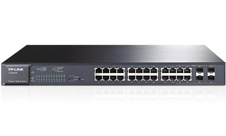 SWITCH WEB SMART 24 PORTURI 10/100/1000M 4 sloturi SFP cu suport module MiniGBIC, TP-LINK T1600G-28PS(TL-SG2424P) 0