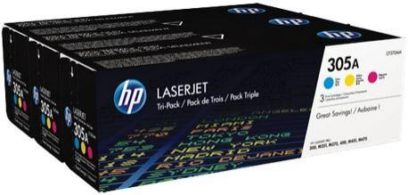 Toner Original pentru HP Color Tri-Pack 305A Cyan/Magenta/Yellow, compatibil M451/M475, 3x2600pag  [0]