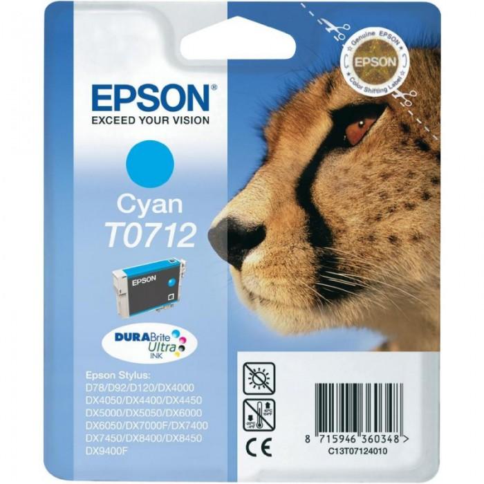 Cartus cerneala Original Epson Cyan T0712, compatibil Stylus D78,DX4000/4050/5000/5050/6000/6050/7000F  [0]