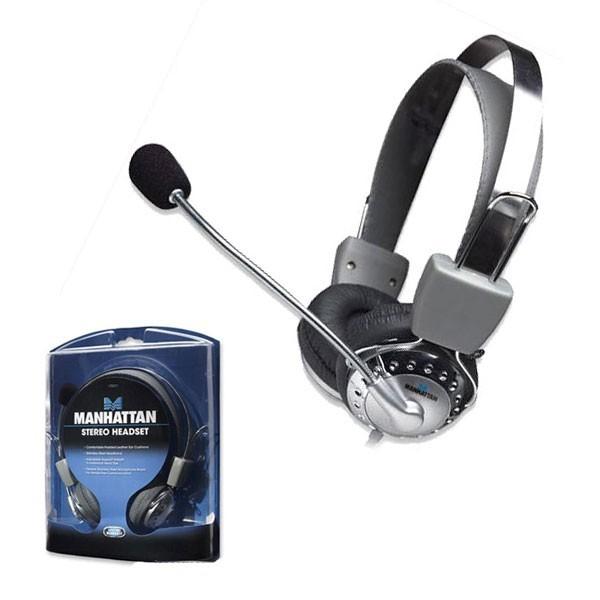 Casti stereo, Microphone, Volume Control, Silver, Blister  0