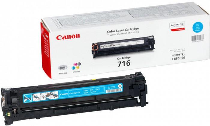 Toner Original pentru Canon Cyan CRG-716C, compatibil LBP5050, 1500pag  [0]
