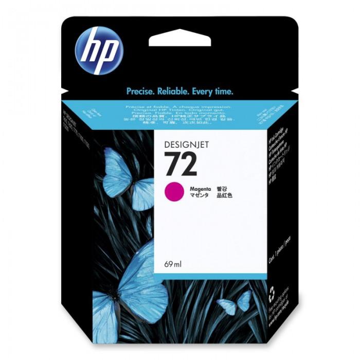 Cartus cerneala Original HP Magenta 72 w.Vivera ink, compatibil DesignJet T1100/1120/1200/1300/2300/T610/620/770/790, 69ml  0