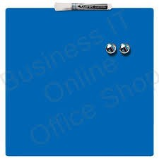 Tabla magnetica Quartet, fara rama, 360x360mm, include doi magneti, set montaj, marker nepermanent, blue  0