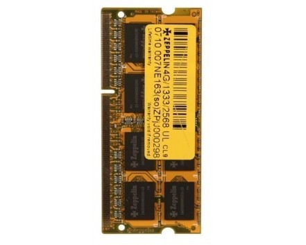 SODIMM ZEPPELIN  DDR3/1600 4096M    (life time, dual channel) low voltage  0