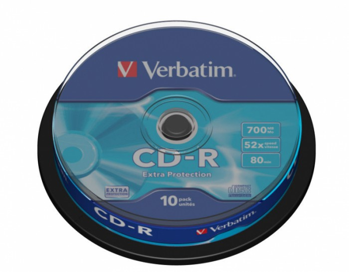 CD-R Verbatim DATALIFE 52X 700MB 10PK SPINDLE EXTRA PROTECTION  [0]