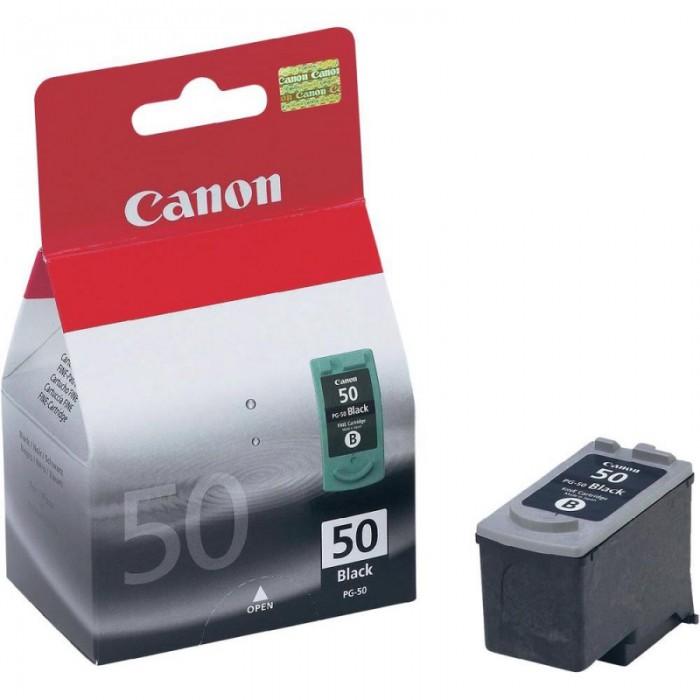 Cartus cerneala Original Canon PG-50 Negru, compatibil IP2200/MP150/MP160/MP170/MP180, 22 ml  0