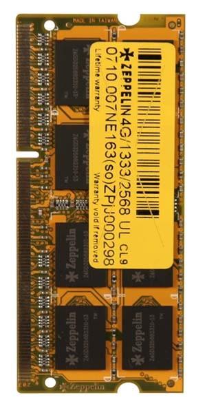 Zeppelin SODIMM 2GB DDR3 1333MHz Bulk  0