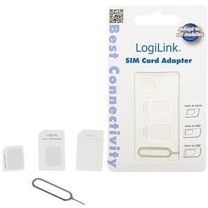 Adaptor SIM (nano-micro/nano-standard/micro-standard), Logilink  0