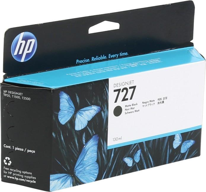 Cartus cerneala Original HP Black Matte 727, compatibil T1500/920, 130ml  0