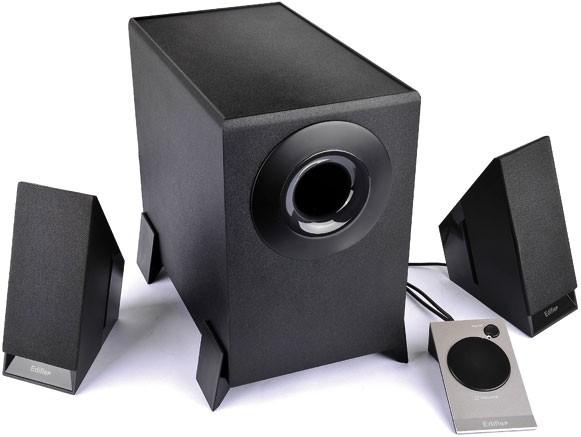 Boxe 2.1 EDIFIER , 2 sateliti x2W +  subwoofer de 4.5W, frecventa 150Hz - 20kHz, raport semnal >85dBA, telecomanda pe fir, culoare: negru [0]