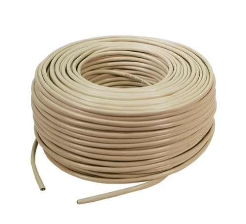 Cablu FTP cat. 5e, 4x2 AWG 26/7, din PVC, solid, lungime rola: 305m, retail, Bej, LOGILINK  [0]