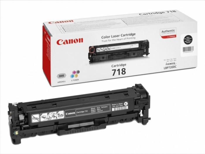Toner Original pentru Canon Negru CRG-718B, compatibil LBP7200CDN, 3400pag  [0]