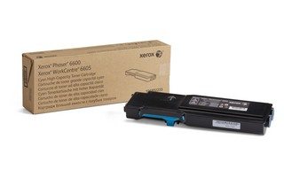 Toner Original pentru Xerox Cyan, compatibil Phaser 6600/WC6605, 6000pag  0