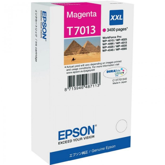 Cartus cerneala  Original Epson Magenta C13T70134010 compatibil WP4000/4500 Series  XXL  34k  0