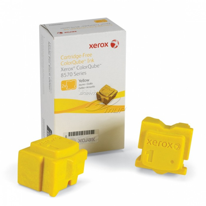 Cartus cerneala Original Xerox Yellow, compatibil ColorQube 8570, 2 sticks, 4400 pag  0