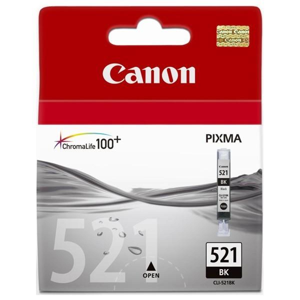 Cartus cerneala Original Canon CLI-521B Negru, compatibil iP3600/iP4600/MP540/MP620  0