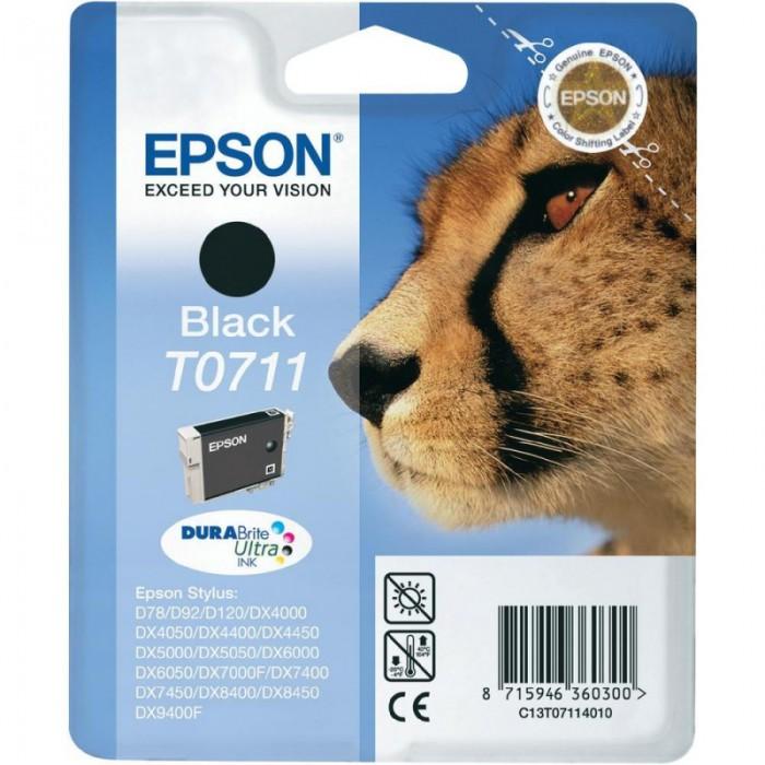 Cartus cerneala  Original Epson Black T0711 compatibil Stylus D78,DX4000/4050/5000/5050/6000/6050/7000F  0