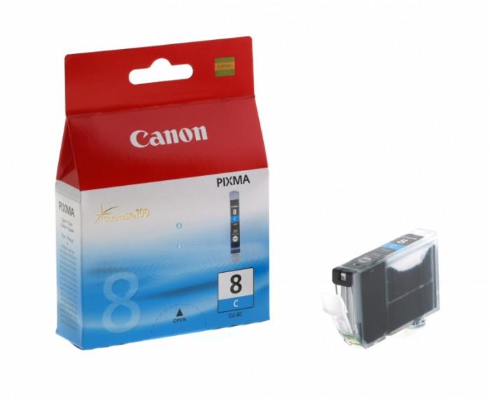 Cartus cerneala Original Canon CLI-8C Cyan, compatibil iP4200  0