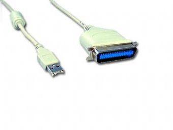 Cablu de date convertor USB la Paralel C36M, lungime cablu: 1.8m, bulk, Alb, GEMBIRD  [0]