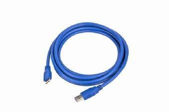Cablu de date USB3.0 AM la micro USB BM, lungime cablu: 1.8m, bulk, Albastru, GEMBIRD  [0]