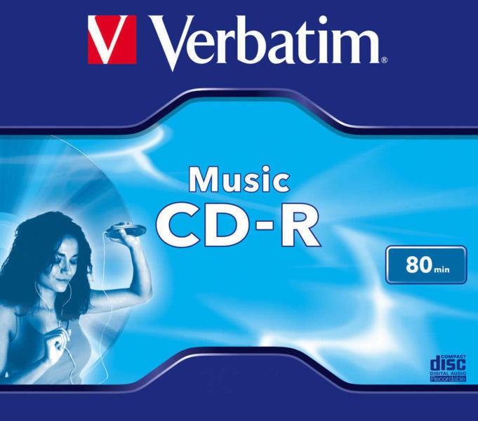 CD-R Verbatim MUSIC 80MIN JC  0