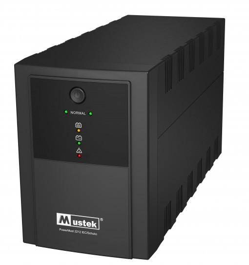 UPS  MUSTEK PowerMust 2212 (2200VA) Line Interactive, IEC/Schuko  0