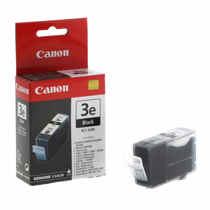 Cartus cerneala Original Canon BCI-3B Negru, compatibil BC-30/BC-33black, 27 ml  0