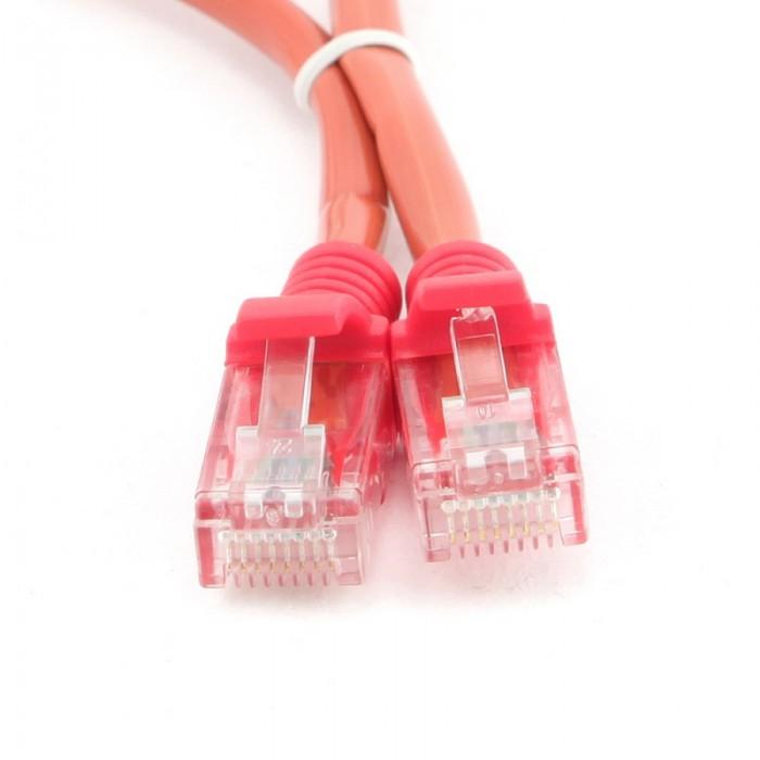 Cablu UTP Patch cord cat. 5E, conectori 2x 8P8C, lungime cablu: 3m, Rosu, GEMBIRD  0