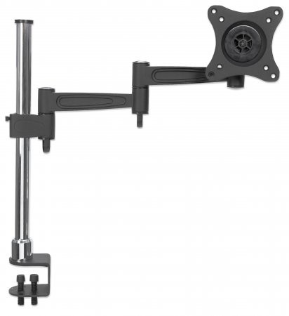 Suport montare perete Manhattan :  for One Monitor, Double-Link Swing Arm, Black  [0]