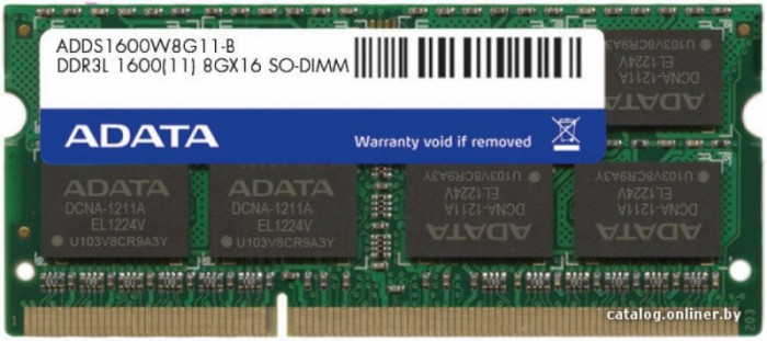 SODIMM LOW VOLTAGE ADATA  DDR3/1600 8192M   0