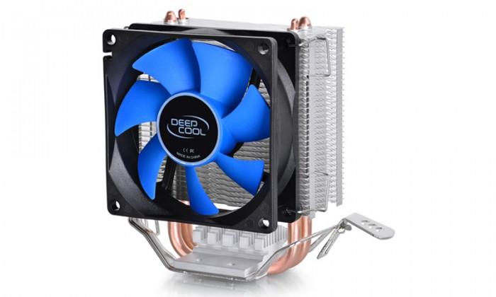 Cooler CPU DeepCool Iceedge Mini FS v2.0, Universal, ventilator 80mm, aluminiu, 2x heatpipe  0