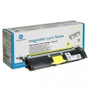 Toner Original pentru Konica-Minolta Yellow, compatibil MagiColor 2400/2430/2450/2500/2530/2550/2480/2490, 4500pag  0