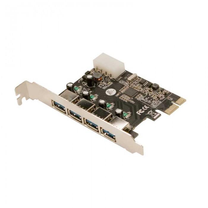 Card PCI-e Adaptor la 4x USB3.0 si 1x Molex alimentare, chipset VIA VL805, LOGILINK  0