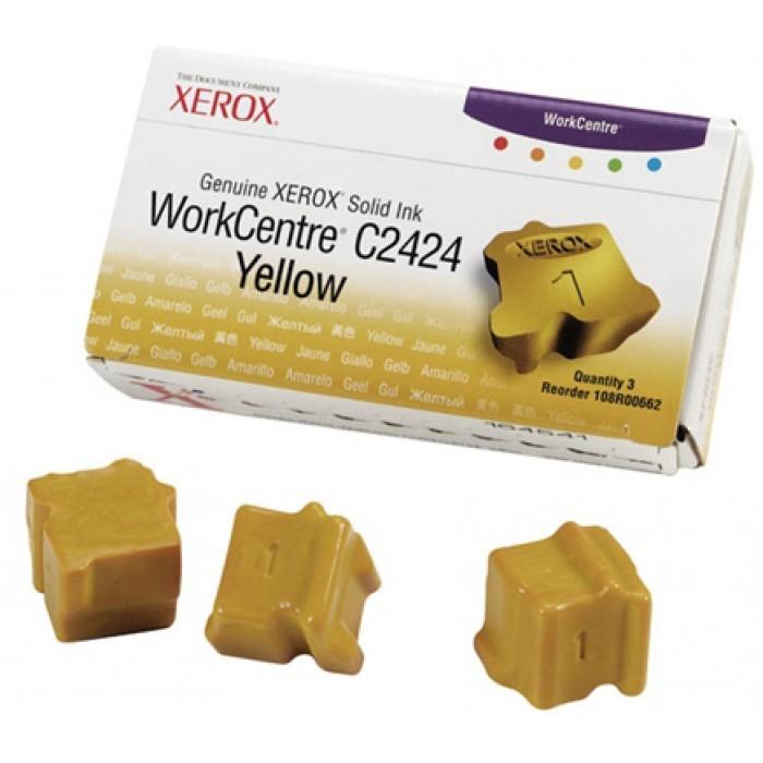 Cartus cerneala Original Xerox Yellow, compatibil WorkCentre C2424, 3 sticks, 3400pag  0