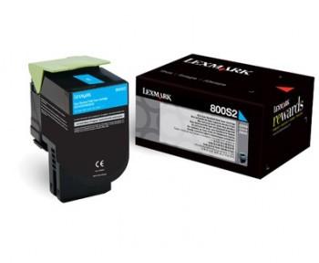 Toner Original pentru Lexmark Cyan 800S2, compatibil X310dn/CX310n, 2000pag  0