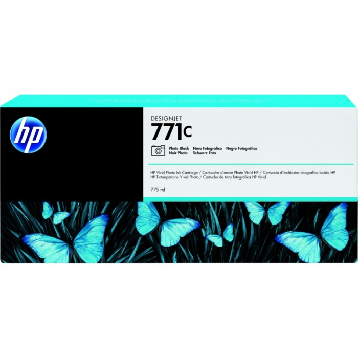 Cartus cerneala Original HP Black Photo 771C, compatibil DesignJet Z6200, 775ml  0