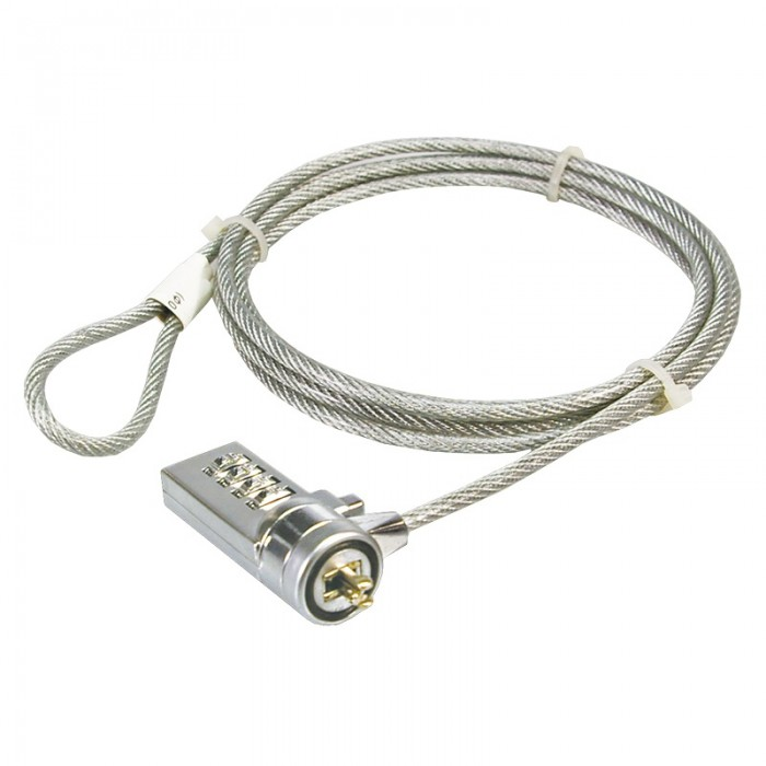 Cablu antifurt laptop, cifru, metal, Logilink  0