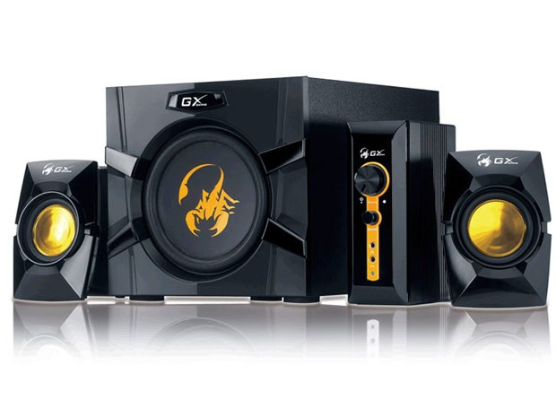 "BOXE 2.1 GENIUS .""SW-G2.1 3000"", RMS: 15Wx2 + 40Wx1, yellow & black, control box ""31731016100"" 0"