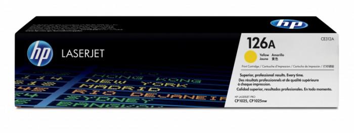 Toner Original pentru HP Yellow 126A, compatibil CP1025/M175 126A, 1000pag  [0]
