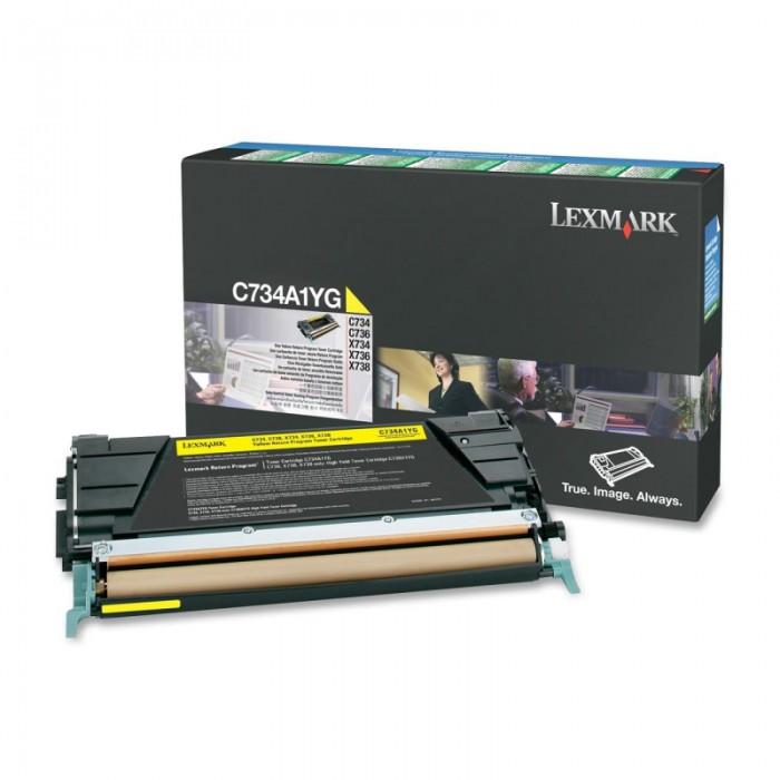 Toner Original pentru Lexmark Yellow, compatibil C734/736/X734/738, 6000pag  [0]