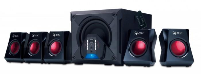 "Boxe 5.1 GENIUS ""SW-G5.1 3500 GX Gaming"" , RMS 80W: 10W x5 sateliti (difuzor 3"") + 30W subwoofer (difuzor 6.5""), frecventa 50Hz-20kHz, cu telecomanda, culoare: negru 0"