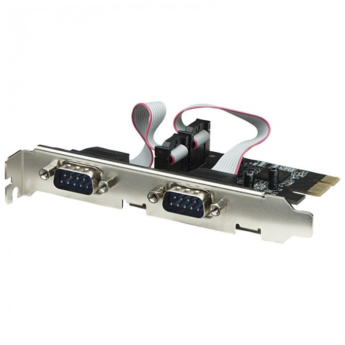Card PCI Express adaptor Serial, 2 External Ports, Retail Box  0