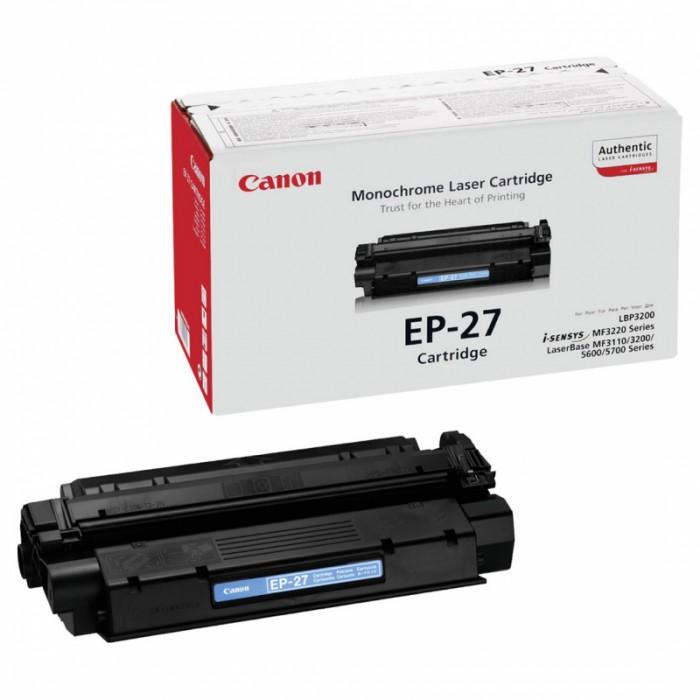 Toner Original pentru Canon Negru E-27, compatibil LBP3200 / MF3220 / 3240 / 5730 / 5750 / 5770, 2500pag  0