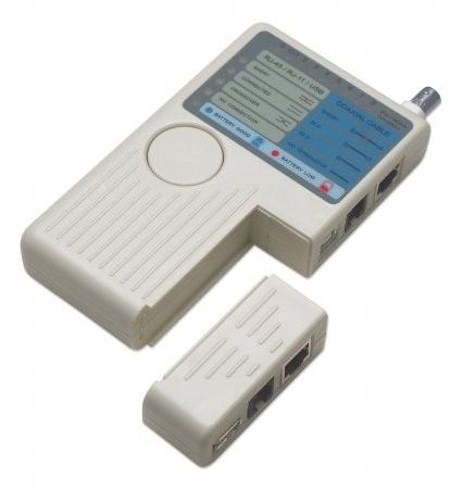 Tester cablu 4-in-1, RJ11/RJ45/USB/BNC, Beige, Retail Box  0
