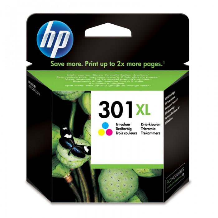 Cartus cerneala Original HP Tri-color 301XL w.Vivera ink, compatibil DJ1000/1050/1055/2050/3050, 330pag  [0]