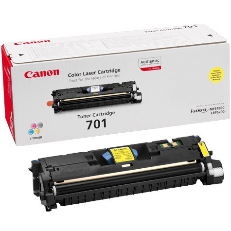 Toner Original pentru Canon Yellow E-701LY, compatibil LBP5200, 2000pag  [0]