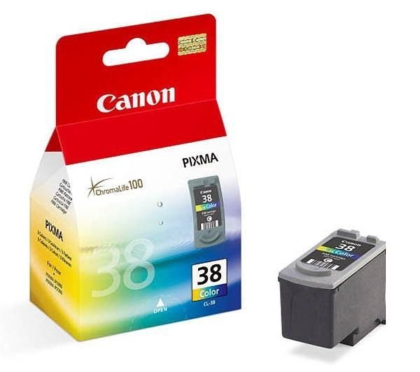 Cartus cerneala Original Canon CL-38 Color, compatibil Pixma iP1800, iP2500, 3 x 3 ml  0