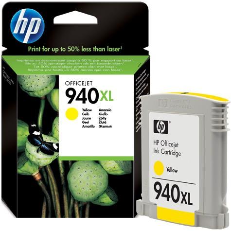 Cartus cerneala Original HP Yellow 940XL, compatibil OfficeJet Pro 8000/8500, 1400pag  [0]