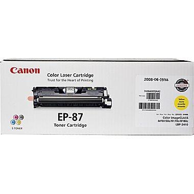 Toner Original pentru Canon Yellow EP-87Y, compatibil LBP2410, 4000pag  0